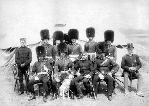 Circa 1890 Officers of the Royal Scots Fusiliers Group