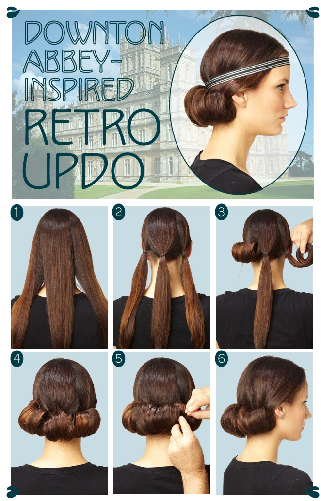 103 best vintage hairstyles images on pinterest retro hairstyles this glam downton abbey updo can be jazzed up with metallic headpieces solutioingenieria Gallery