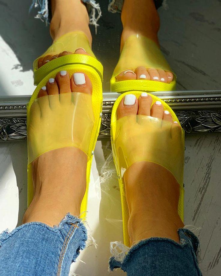 Coloured Beach Slipper Shoes