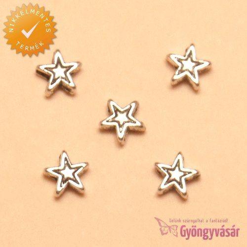 Ezüstszínű kis csillag - nikkelmentes fém köztes