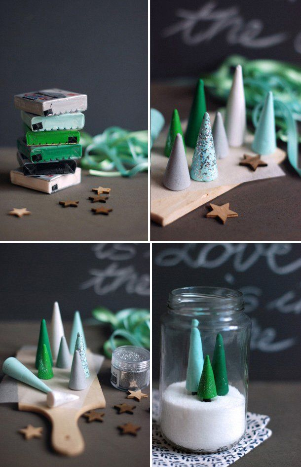 Geen ruimte of zin in een levensgrote kerstboom?? Geen nood… 10 leuke mini kerstboom zelfmaakideetjes!