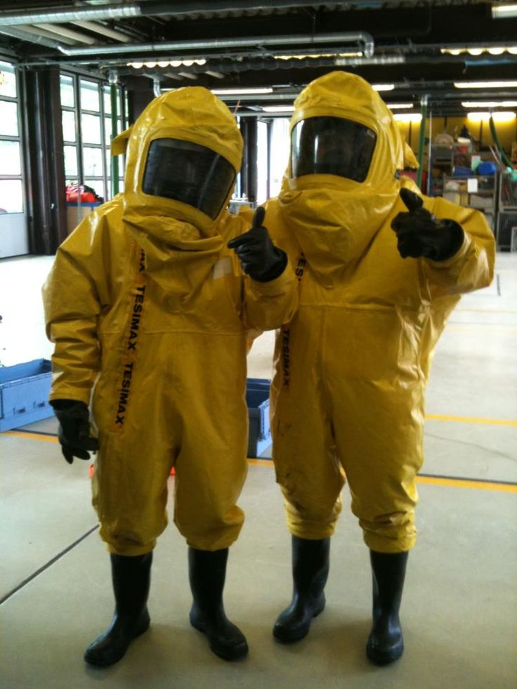 "hazmatsuitguys: ""Thumbs up to you both horny hot Yellow Tesimax Hazmat Men - I want to suit hump both of you off! "" Us @hazmatsuitguys ❤️"