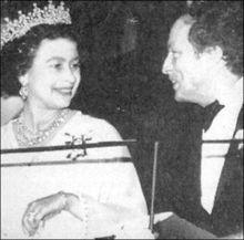 Queen Elizabeth II chats with Pierre Trudeau