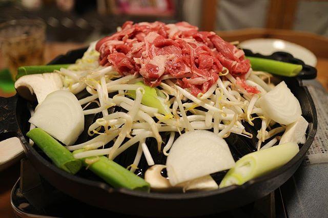 今日は家で成吉思汗😆 #成吉思汗 #ジンギスカン  #マイジンギスカン鍋  #ソウルフード #肉 #肉祭り