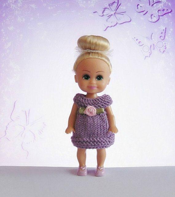 Miniature dress miniature doll dress miniature by CrochetKnitt