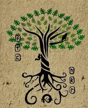 Yggdrasill, fabled First Tree in Norse mythology that holds the 9 worlds together