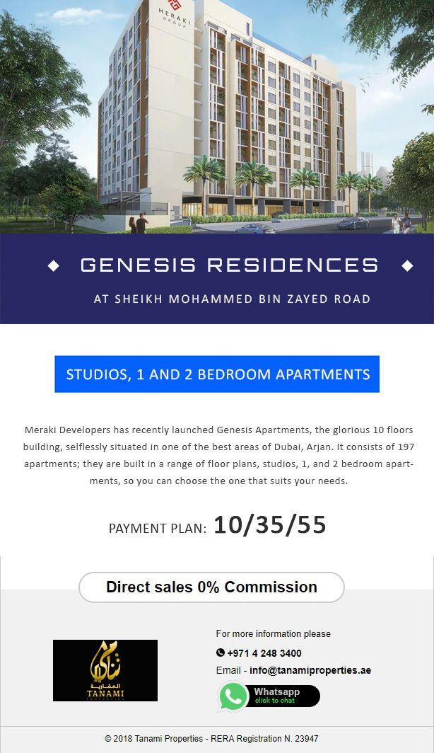 Meraki Developers Has Recently Launched Genesis Apartments The Glorious 10 Floors Building Selfless 2 Bedroom Apartment Floor Plan Dubai Apartment Floor Plan