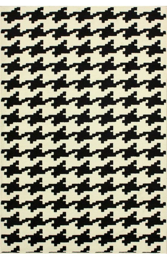 Rugs Usa Home Value Houndstooth Black Rug Only 110 48