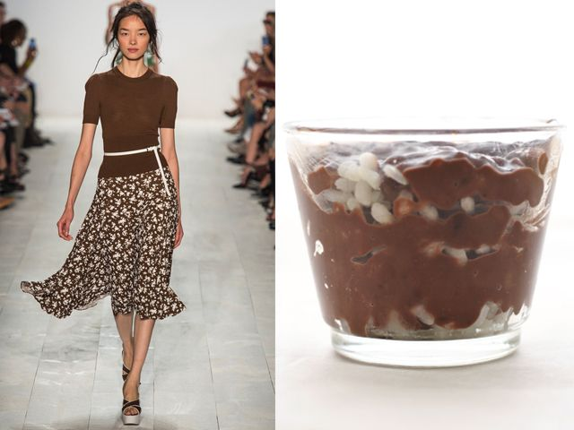 Michael Kors ss 2014 / Chocolate rice pudding