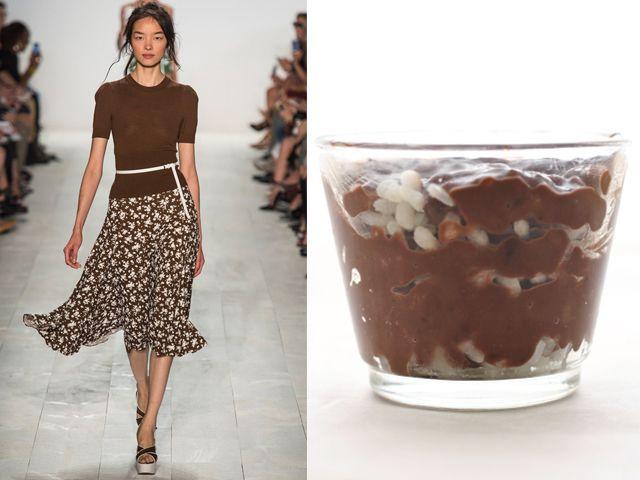 Michael Kors ss 2014 / Chocolate rice pudding