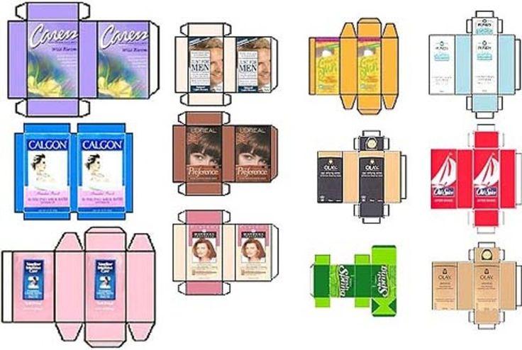 des emballages et étiquettes scannés à imprimer pour une maison de poupées ou des embellissements... une idée originale !...
