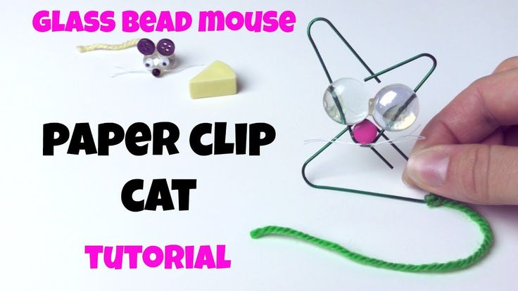 HOW TO MAKE A CAT WITH A PAPERCLIP / PAPER CLIP CRAFT FOR KIDS