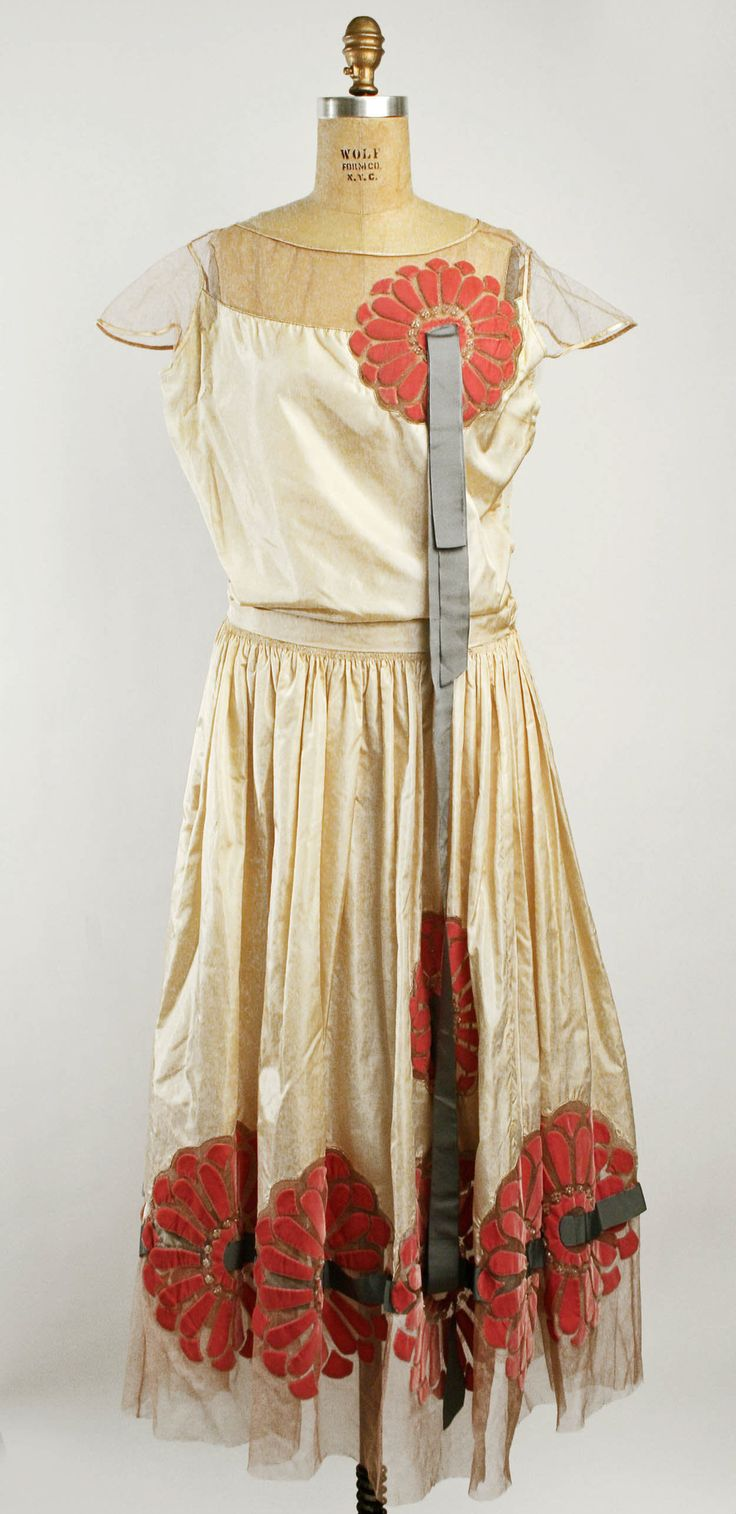 Robe fleurie vintage 80 m prior k vintage - Robe De Style Dress By The House Of Lanvin 1925 Silk Beading