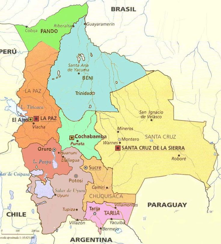 Bolivia is divided into nine administrative regions called departments. Description from pinterest.com. I searched for this on bing.com/images