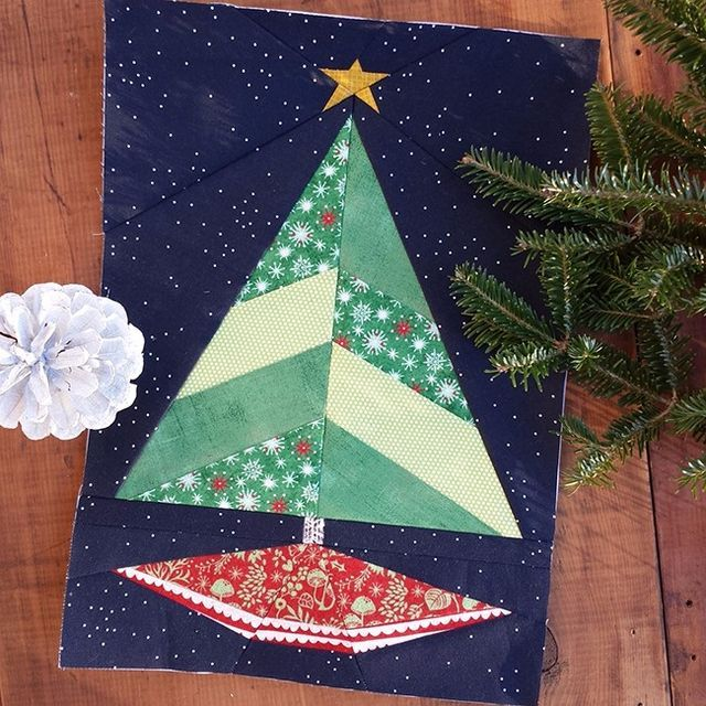 Paper Pieced Christmas Tree Pattern: 56 Best Quilts Paper Pieced Images On Pinterest