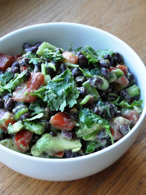 Healthy Avocado & Black Bean Salad - So good!!!