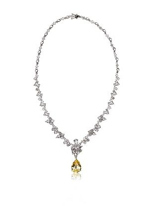 73% OFF CZ by Kenneth Jay Lane Pear Drop Multi Station Necklace