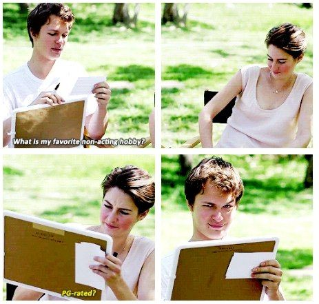 Shailene Woodley and Ansel Elgort for Entertainment Weekly