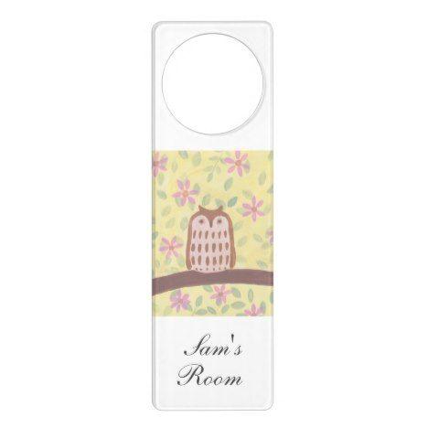 Little Owl Door Hanger #cute #kids #doorhanger #kidsroom