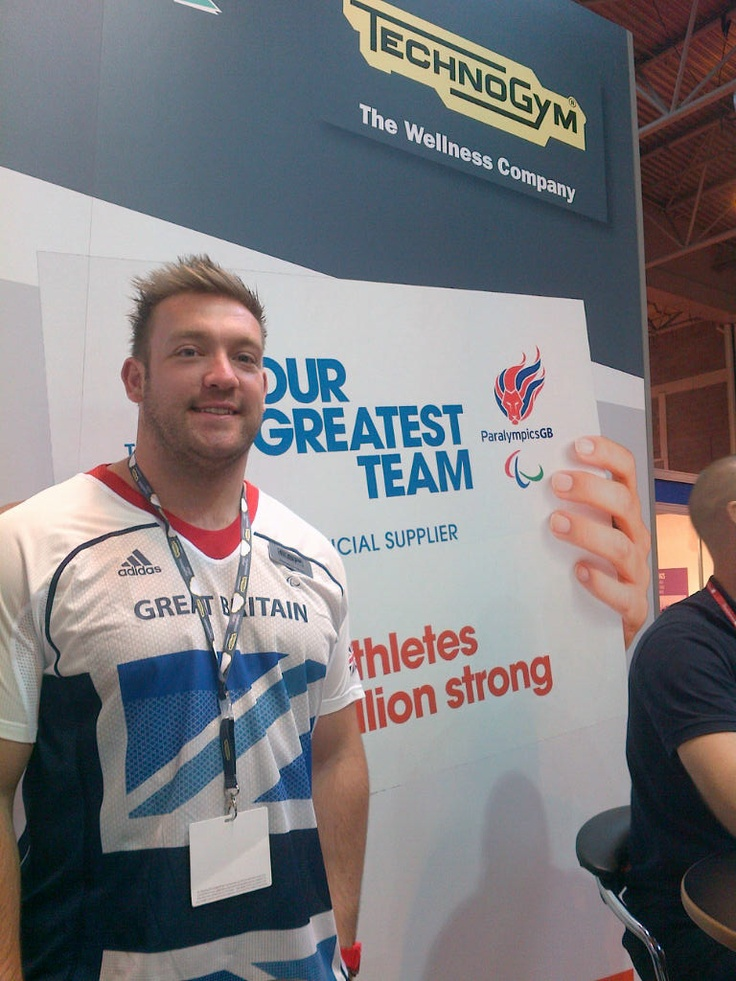 Daniel Greaves - from TEAM GB visits us at LIW 2012.     Dan is an athlete specialises in the discus throw. He won the Silver Medal during the latest Paralympics Games.