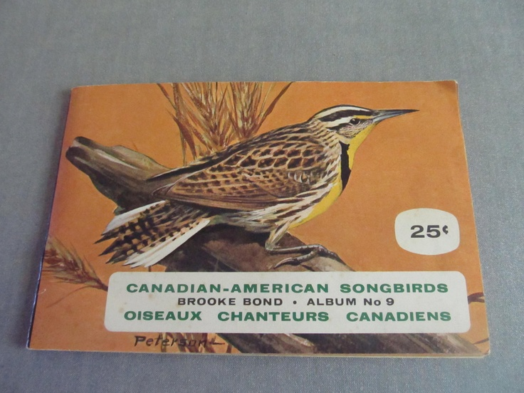Vintage Brooke Bond Red Rose Tea Card Album Canadian-American Songbirds No 9 Complete. $10.00, via Etsy.