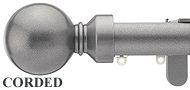 Silent Gliss Metropole Corded 30mm, 6120 Gun Metal, Overture Ball Finial
