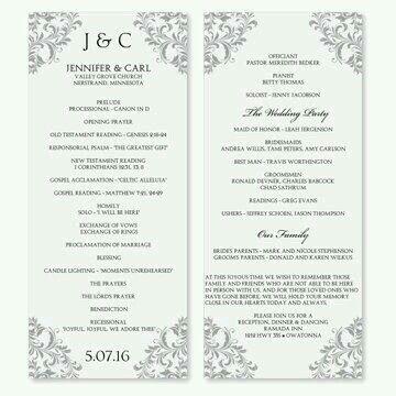 sample of wedding program