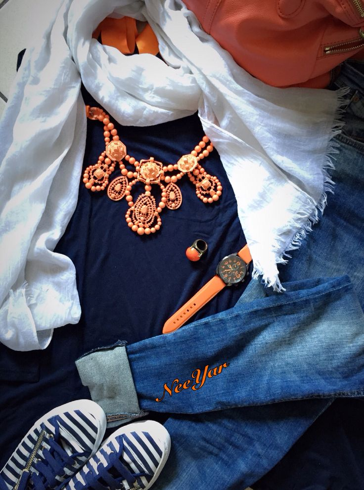 Navy and orange.. Yes or no..?
