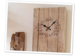 Houten wandklok gemaakt met #edding 4000! Wil jij dit ook maken? Klik op de link voor de tutorial in het Nederlands / Wooden clock with tutorial in Dutch.