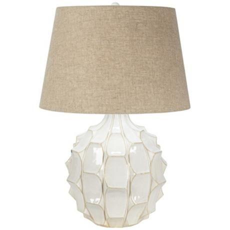 Cosgrove mid century white ceramic table lamp 130 lampsplus com 26 high