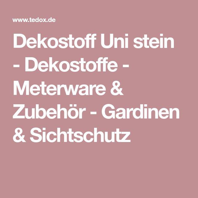Dekostoff Uni stein - Dekostoffe - Meterware & Zubehör - Gardinen & Sichtschutz