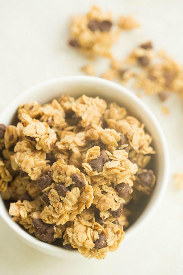 Chocolate Chip Granola | browneyedbaker.com #recipe