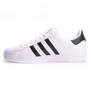 Adidas Superstar Vulc ADV (White/Core Black/White) Men's Skate Shoes