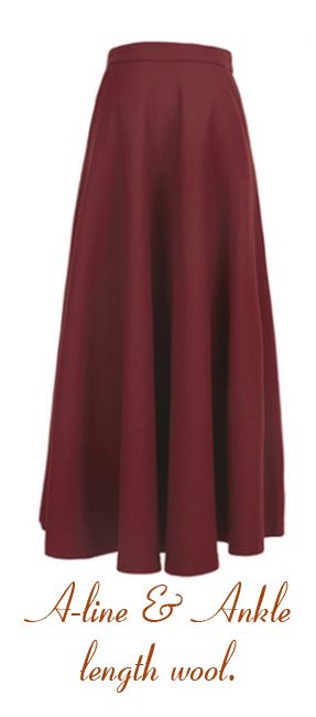 Long a line woolleen skirt Winter Style Inspirations with some 30s & 40s Style.