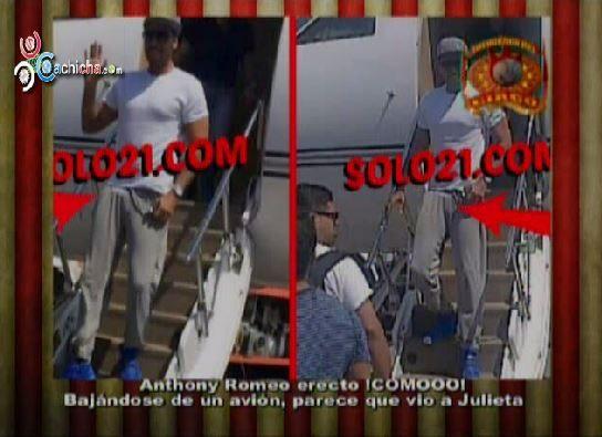 Capturan Foto De Romeo Santos Con El Miembro Erecto Al Bajarse De Un Avión #Video