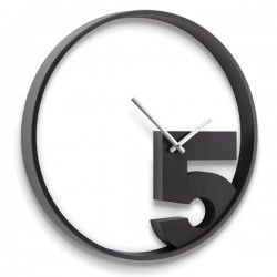 Horloge murale noire par Umbra design