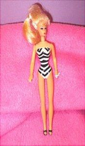 """Doll for a doll!  Vintage Barbie is 4 1/2"""" tall.  Sold on http://barbspencerdolls.com in DOLLS."""