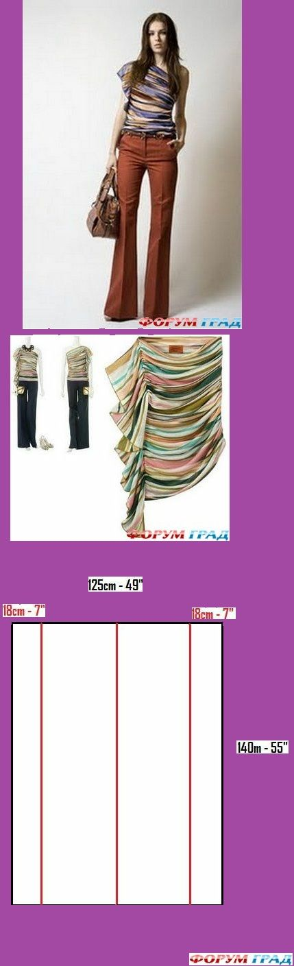 create this fashionable top, site has lots more clothes to make but is in russian