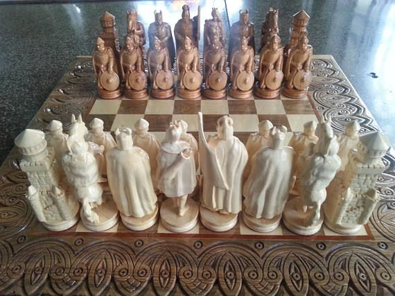 Wooden Chess Pieces Game Of Thrones Exclusive Handmade Big Large Wood Chess Pieces Unique Gift For Husband Father Boyfriend Carved Wood Wooden Chess Pieces Chess Pieces Wooden Chess