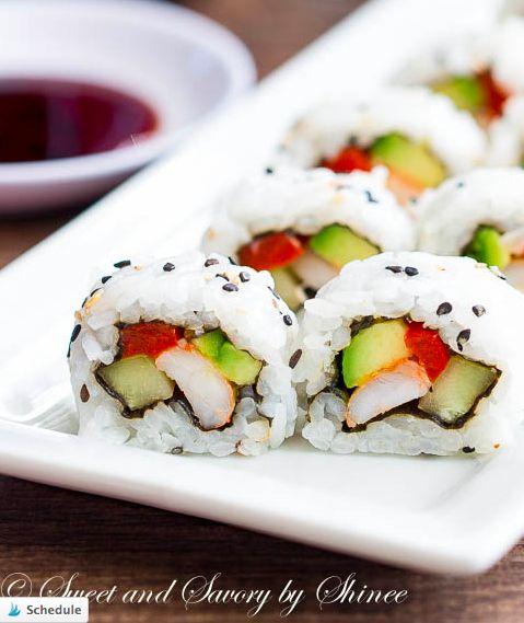 Homemade Sushi Rolls #sushi #foodporn http://livedan330.com/2014/12/29/homemade-sushi-rolls/