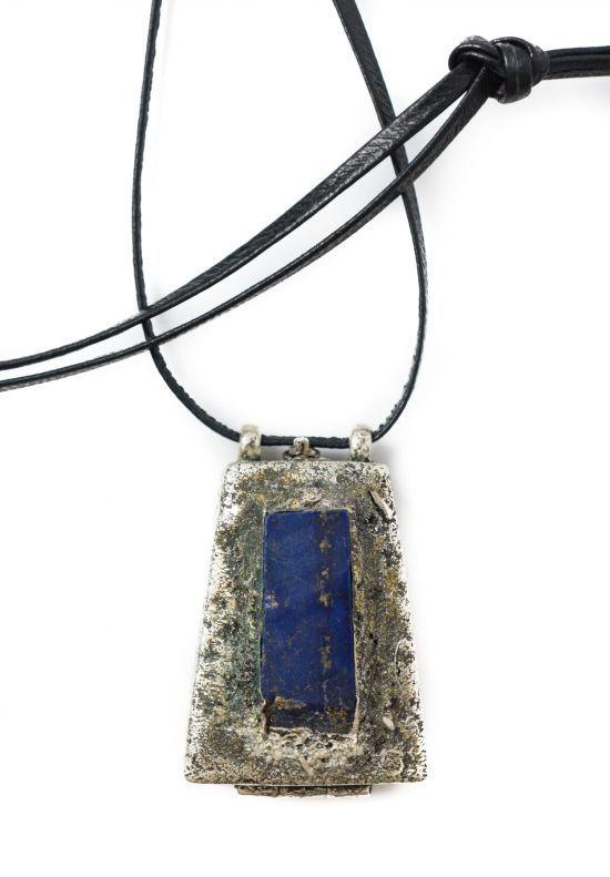 Vintage 1970's Lou Zeldis Locket Pendant - Lapiz Lazuli