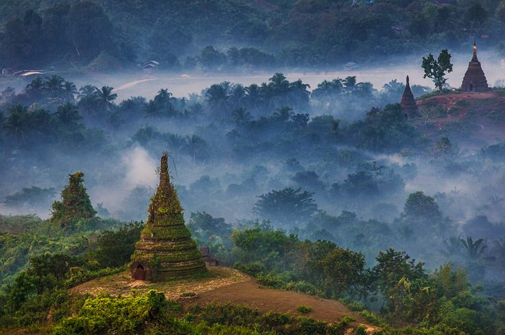 Mrauk U (Myanmar/Burma). 'While exploring the many temples, monasteries and ruined city walls of the former Rakhaing capital of Mrauk U, you realise what an amazing place this sleepy town was at its zenith in the 16th century. Giant structures such as the Dukkanthein Paya and Kothaung Paya appear even more impressive amid the beguiling rural landscape of gently rounded hills and vegetable fields.' http://www.lonelyplanet.com/myanmar-burma/western-myanmar/mrauk-u-myohaung