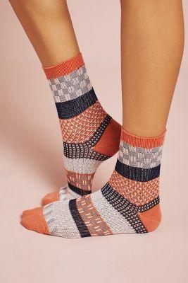 Anthropologie Patchwork Socks