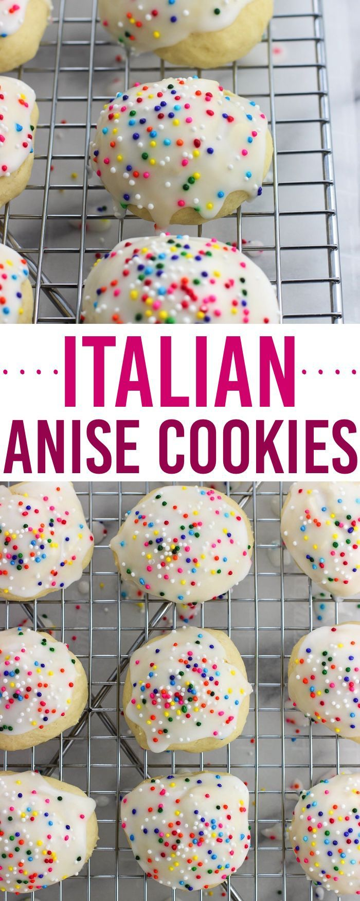 These classic Italian anise cookies are tender, easy, and covered in a glaze with sprinkles. Enjoy these cookies as part of a holiday cookie tray or year-round!