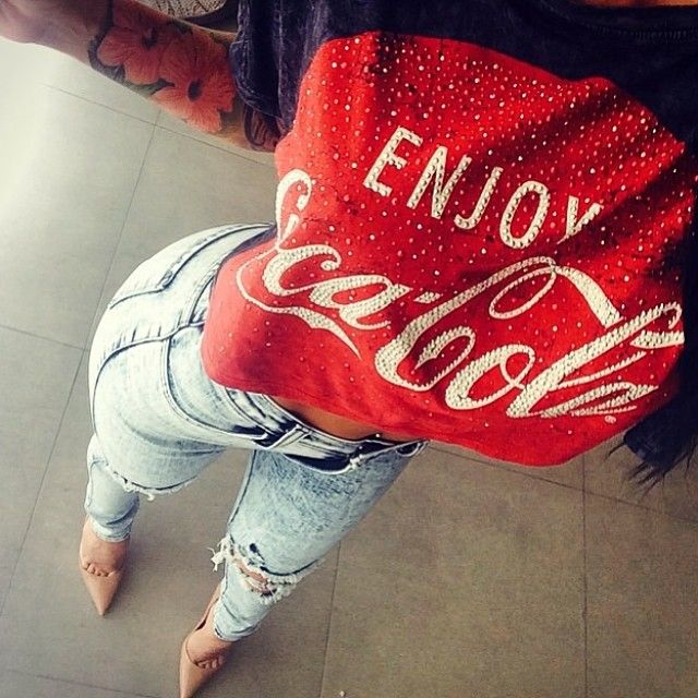Outlet Cheap Quality COCA -COLA Mens Coca-Cola Coke-College Crew Neck Short Sleeve T-Shirt Coca Cola Ware Outlet Order Many Kinds Of  Buy Online With Paypal 0xODf32wo9