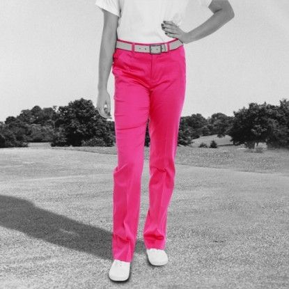 Women's Golf Pants by Royal & Awesome - Pink Ticket. Buy it @ ReadyGolf.com