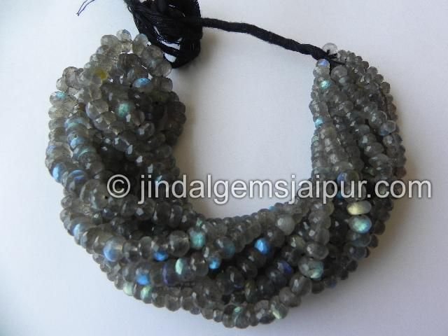 Labradorite Far Faceted Roundelle Gemstone Beads.