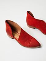 Peaks Point Wedge | Leather nubuck pointy toe wedge with easy adjustable hook and loop fastener ankle straps. Handmade.