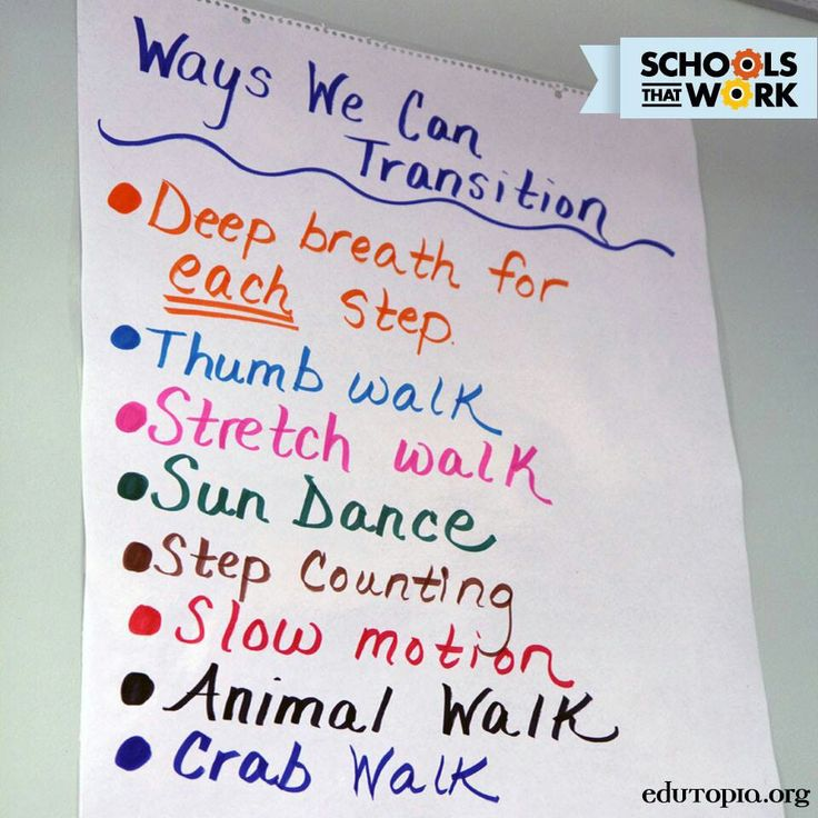 Responsive classroom transitions