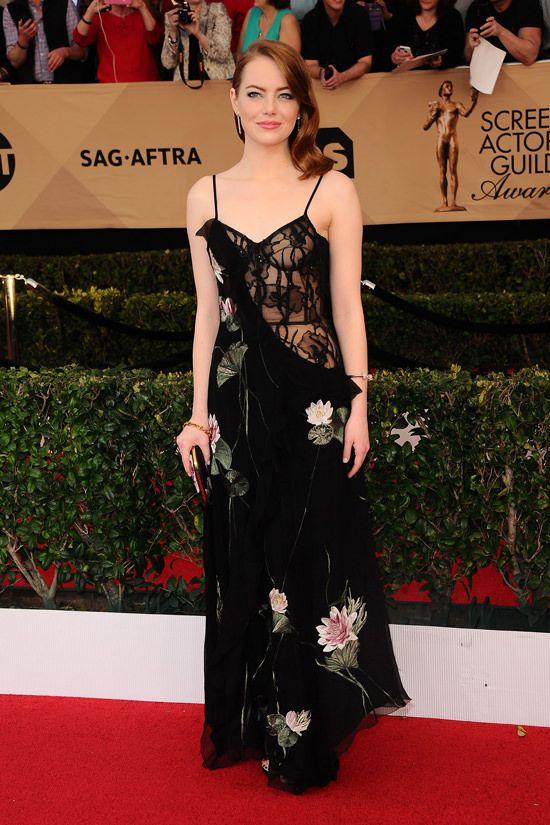 Emma Stone in Alexander McQueen SAG Awards 2017